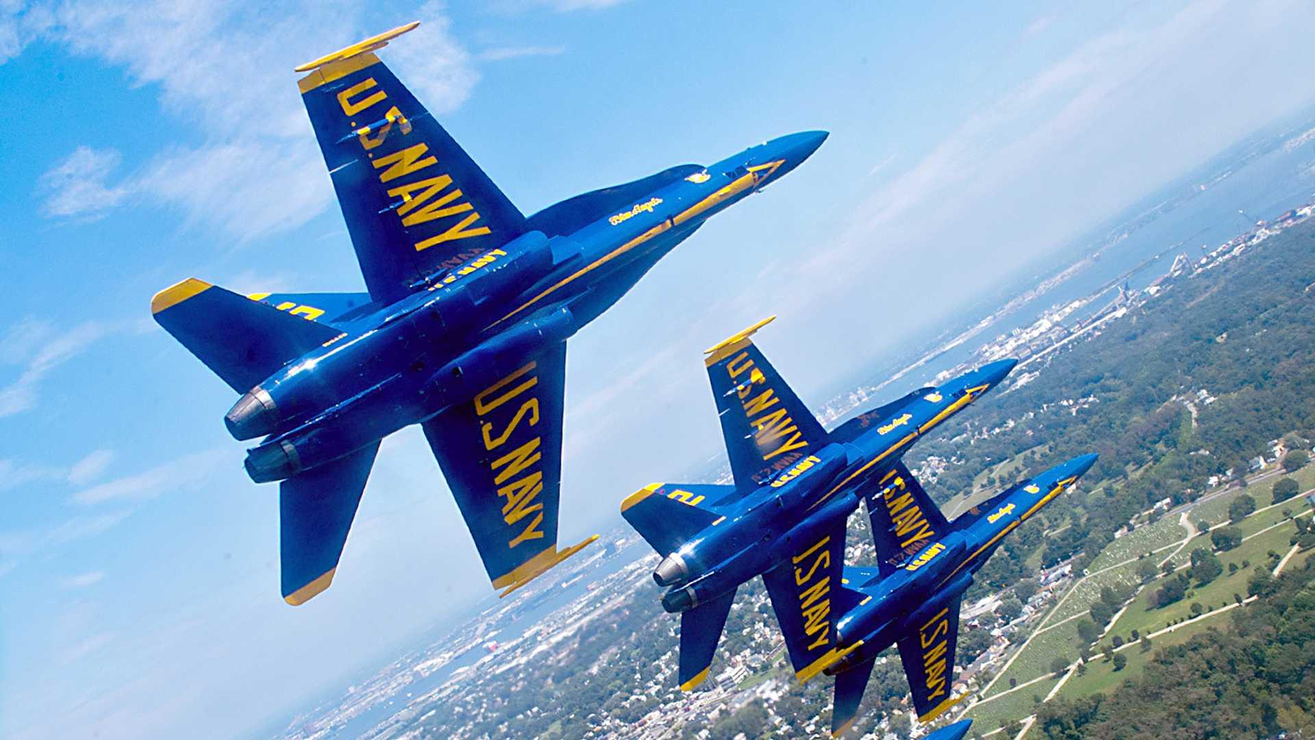 Обои fly, delta formation, Blue angels. Авиация foto 9