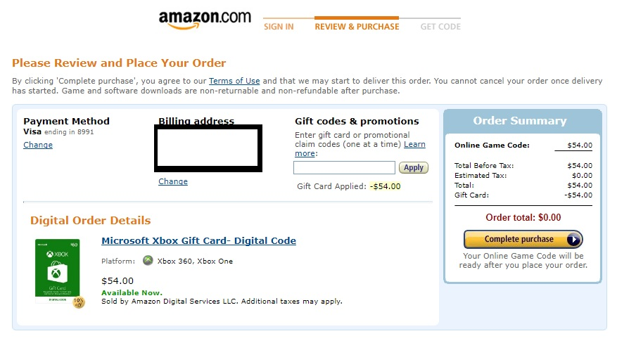 How buy US Xbox Live Gift Cards on Amazon - Xbox Store Checker